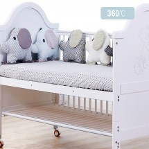 Baby Elephant - Crib Bumper