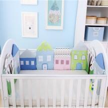 Little House - Crib Bumper
